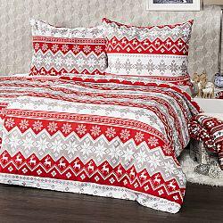 4Home Bavlnené obliečky Red Nordic, 220 x 200 cm, 2 ks 70 x 90 cm