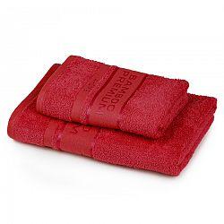 4Home Sada Bamboo Premium osuška a uterák červená , 70 x 140 cm, 50 x 100 cm
