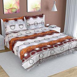 Bellatex Bavlnené obliečky Lúče hnedá, 200 x 200 cm, 2 ks 70 x 90 cm