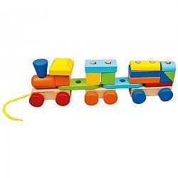 Bino Farebný vláčik s dvoma vagónmi