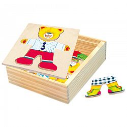 Bino Puzzle šatníková skriňa Medvedík