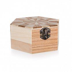 Drevená krabička Chess, 14 x 12 x 6 cm