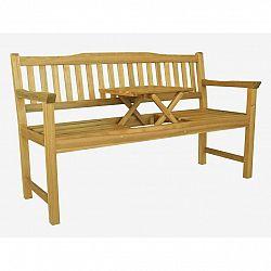 Drevená lavička so stolíkom Eva, 150 x 60 x 88 cm