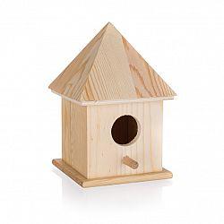 Drevená vtáčia búdka, 10,4 x 10,4 x 15,5 cm