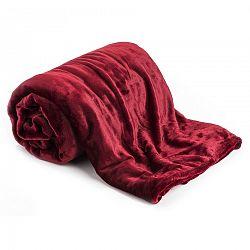 Jahu Deka XXL / Prehoz na posteľ červená, 200 x 220 cm