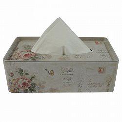 Plechový box na vreckovky Ruže, 24 cm