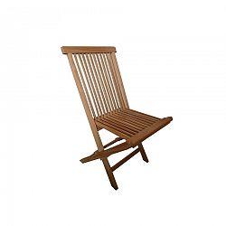 Sada skladacích záhradných stoličiek Clasic teak, 2 ks