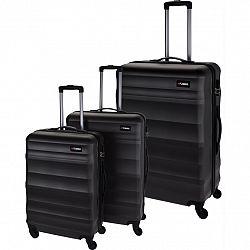 Sada škrupinových kufrov na kolieskach 3 ks, tmavosivá