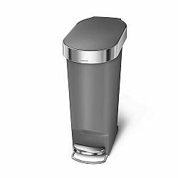 Simplehuman Pedálový oválny odpadkový kôš 40 l, sivá