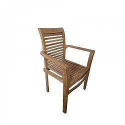 Stohovateľná záhradná stolička Stucking, teak