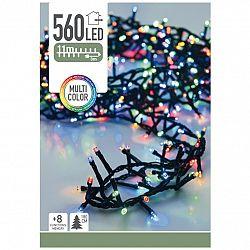 Svetelná vianočná reťaz Cluster farebná, 560 LED