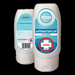 Topvet Antibakteriálny gél na ruky Jahoda 50 ml