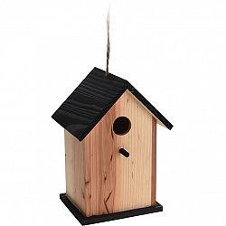 Vtáčia búdka Bird house hnedá, 15,5 x 13 x 22 cm