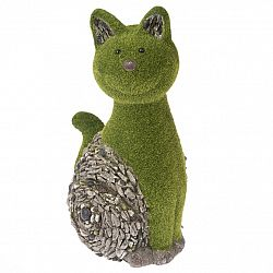 Záhradné dekorácie Machová mačka, 23 x 42 x 23 cm